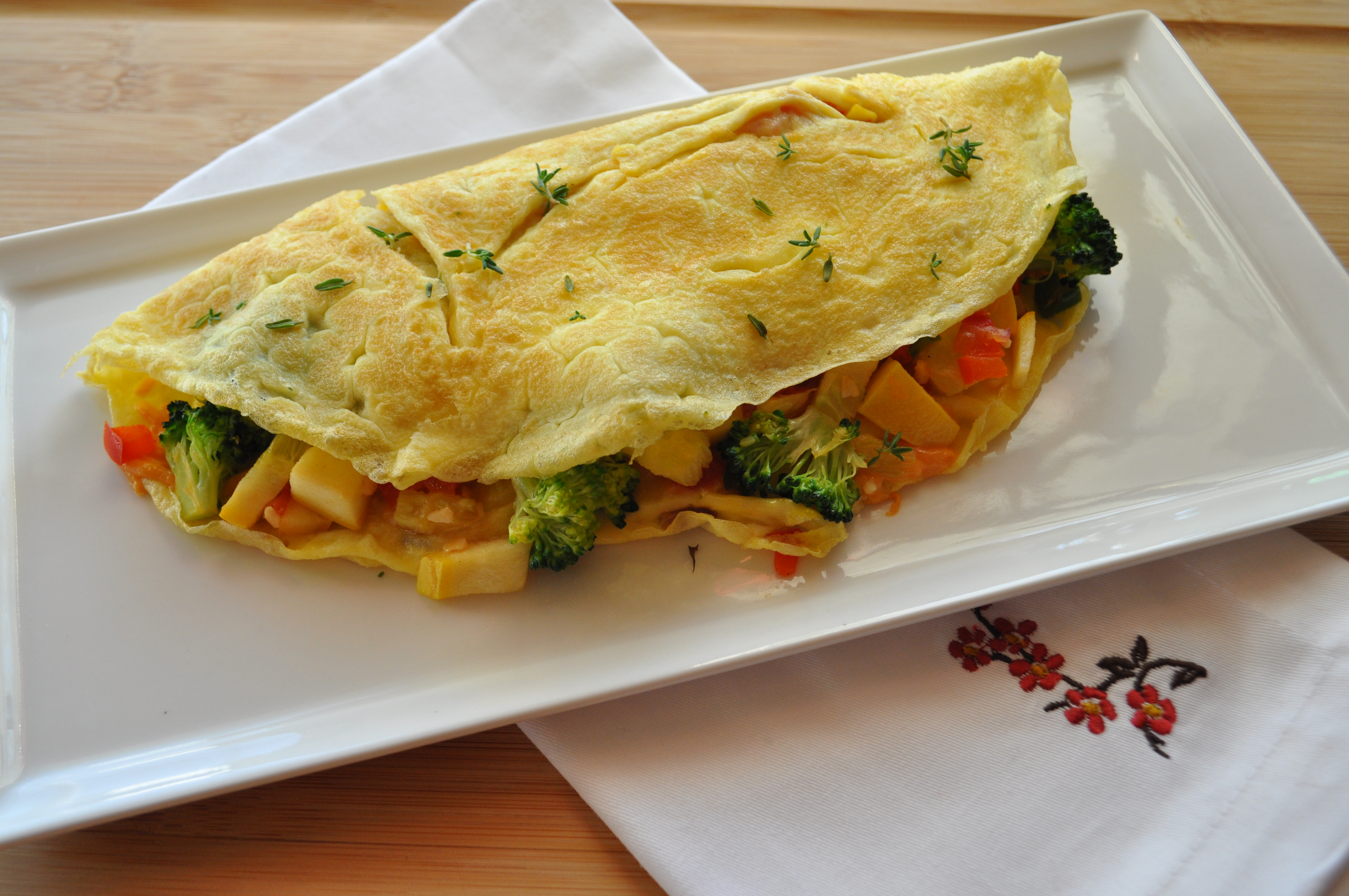 Veggie & Cheese Omelette – gluten free zen