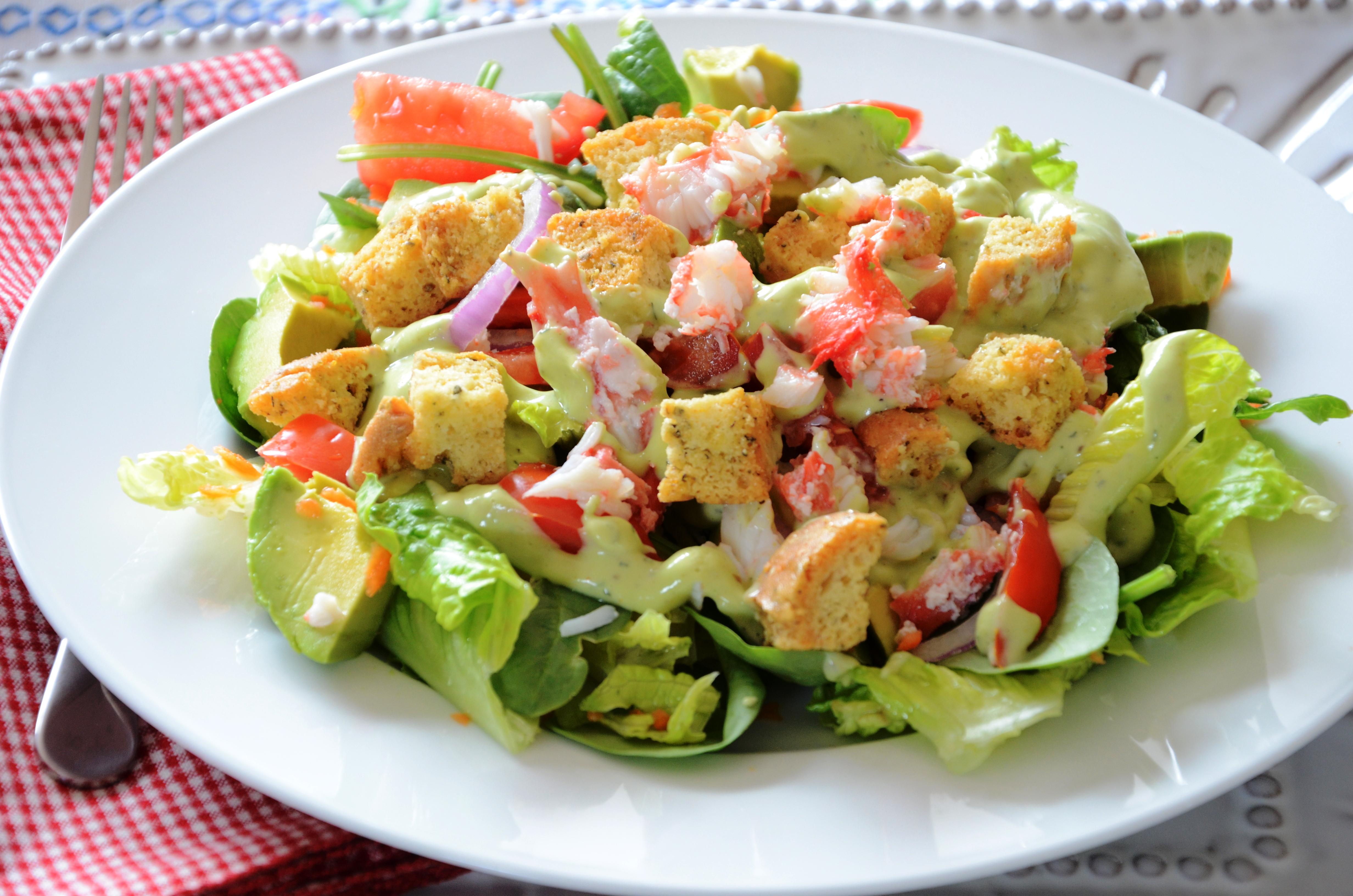 Dairy Free Crab Salad | gluten free zen