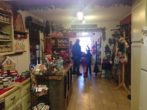 They have a very nice holiday gift shop with all kinds of decorative and edible fun things.